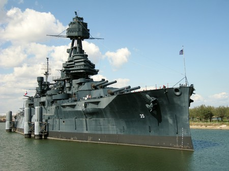 Battleship Texas in San Jacinto