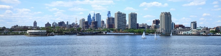 Panorama of Philadelphia skyline and river front