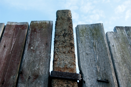 Wooden fence in the sky Stock Photo - 13628265