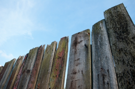 Wooden fence in the sky  Stock Photo - 13628259