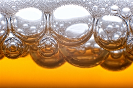 Beer bubbles in the high magnification and close-up. Stock Photo - 17352538