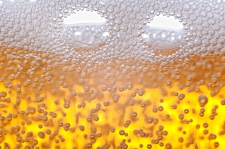 Beer bubbles in the high magnification and close-up. Stock Photo - 17352520