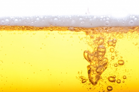 magnification: Beer bubbles in the high magnification and close-up.