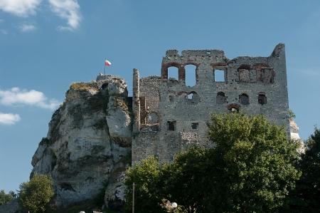 ogrodzieniec: The ruins of a medieval castle in Ogrodzieniec