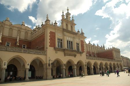 Sukiennice in Krakow in sanny day