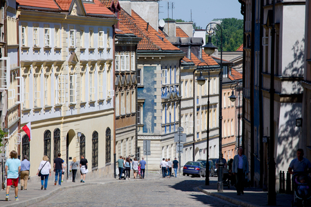 Mostowa Street in Warsaw. This street appears in the Polish film Miasto 44. Standard-Bild - 101835165