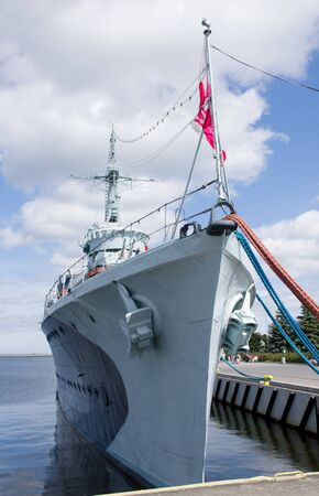 Warship, which is today a museum ship, in the port of Gdynia. 新闻类图片
