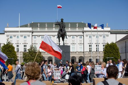 Democracy Defense Committee - demonstration in Warsaw near the Presidential Palace, May 5, 2018 Editöryel