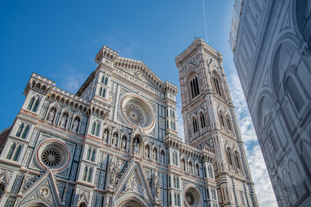 workship: Florence cathedral facade and Baptistery facade on renovation