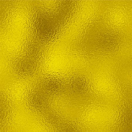 光沢のある黄色葉金箔テクスチャ ベクトルの背景。