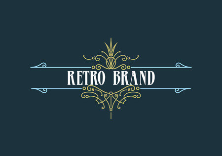 logotypes: Vintage Label Template. Retro design for Invitations, Posters, Badges, Logotypes and other design. Flourishes calligraphic. Illustration