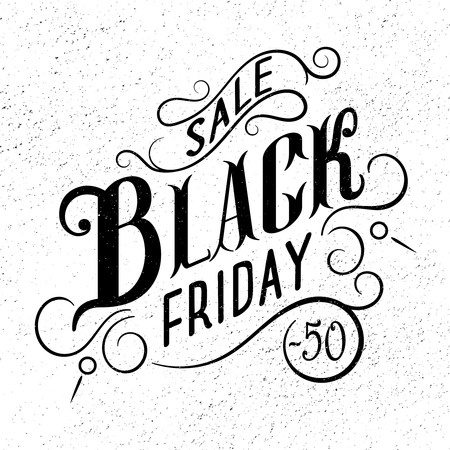手には、黒い金曜日販売書道デザインが描かれました。