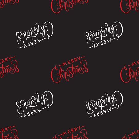 Hand drawn calligraphic design Merry Christmas greeting pattern.Text lettering for invitation and greeting card, prints and posters.