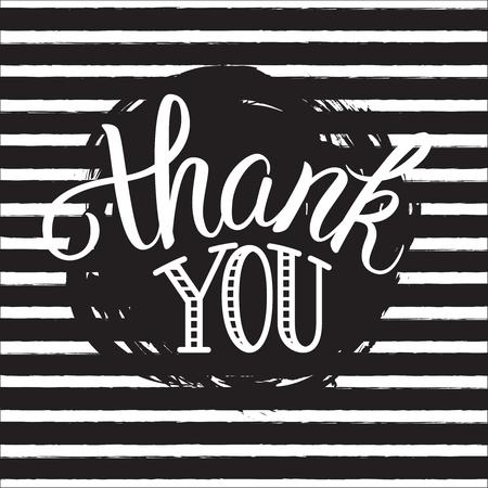 ありがとうございます手レタリングします。グリーティング カード、版画、ポスター、書道デザイン。 写真素材 - 48557088