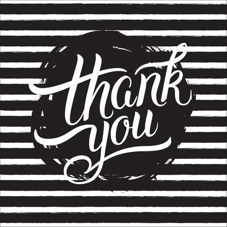 ありがとうございます手レタリングします。グリーティング カード、版画、ポスター、書道デザイン。 写真素材 - 48557098