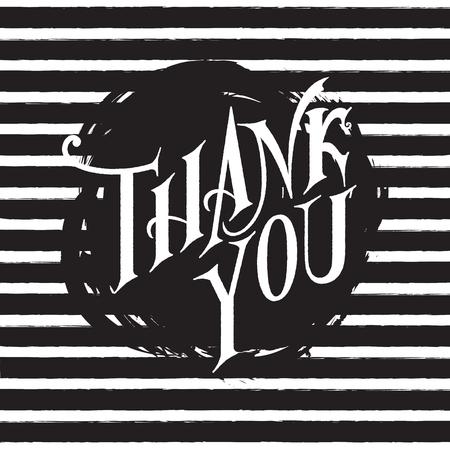 ありがとうございます手レタリングします。グリーティング カード、版画、ポスター、書道デザイン。 写真素材 - 48557096