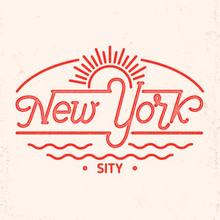 New York city typography line art design. For apparel,t-shirt,print,home decor elements.