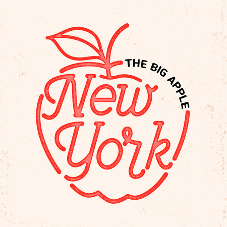 big apple: New York city typography line art design. For apparel,t-shirt,print,home decor elements.
