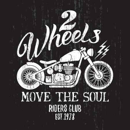 カスタム バイク t シャツ グラフィック。T シャツやアパレルのヴィンテージは、タイポグラフィ デザイン。 写真素材 - 56719589