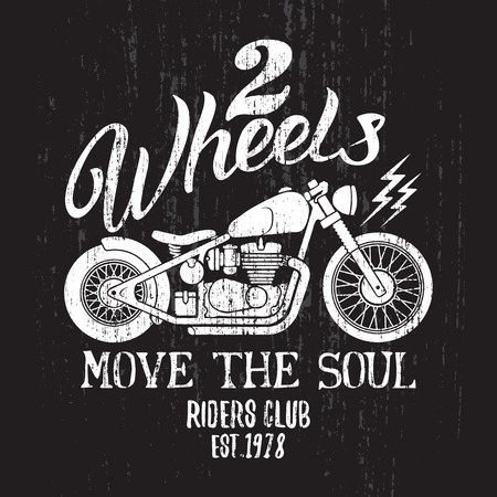 tees graphic tees t shirt printing: Custom Motorcycle t-shirt graphic. Vintage typography design for tee or apparel. Illustration