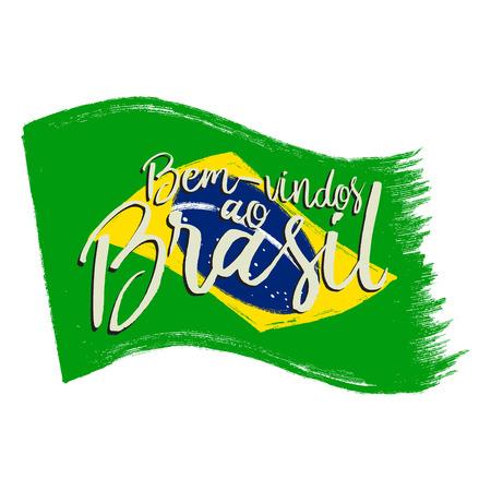 グランジ フレーズのブラジル国旗。 写真素材 - 57016554