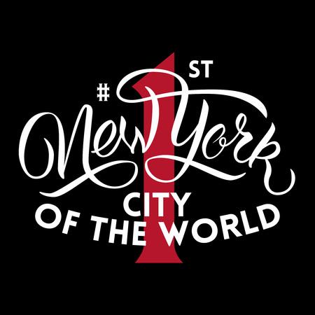 ブラシ スクリプト インスピレーションを引用。ニューヨークの世界の最初の都市。 写真素材 - 59630369