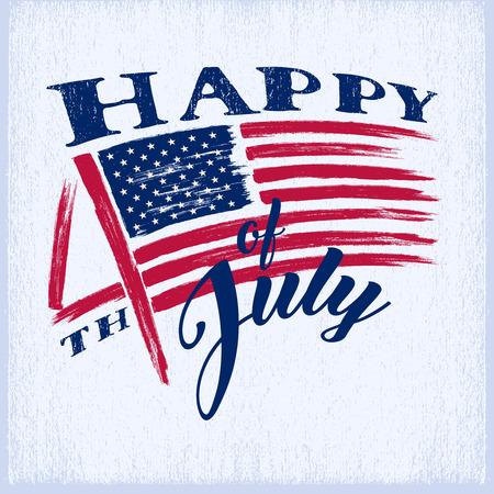 7 月 4 日。アメリカ独立記念日の国旗で汚れた。