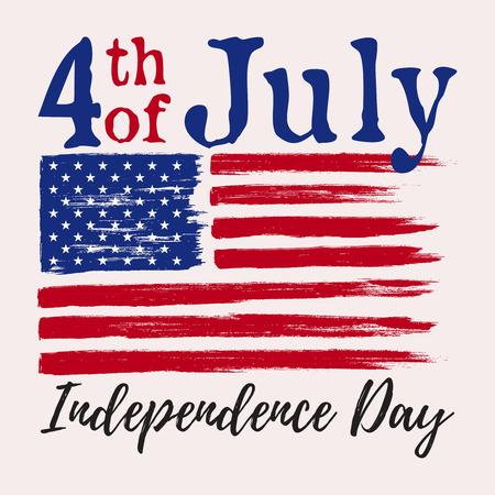 7 月 4 日。アメリカ独立記念日の国旗で汚れた。 写真素材 - 60169228