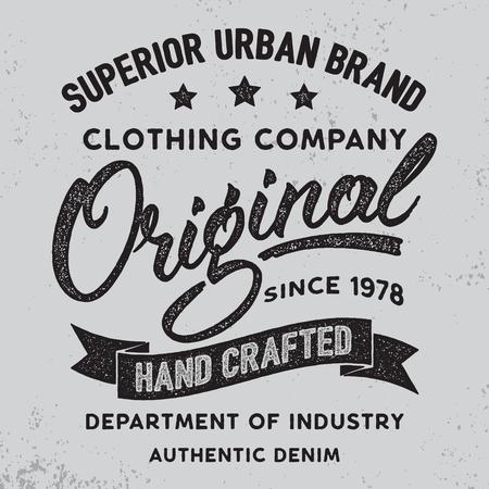 Handgeschreven lettering label.Apparel ontwerp voor tee-print