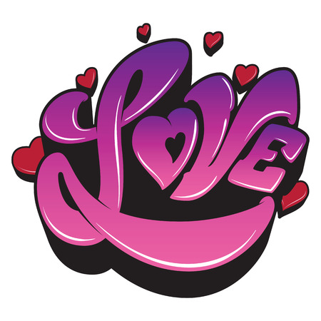 Ultra Violet sign, the word Love with heart on white background. Ready for your design, greeting card, banner,logo, as a print on t-shirts and bags, stationary. Vector illustration. 写真素材 - 99670317