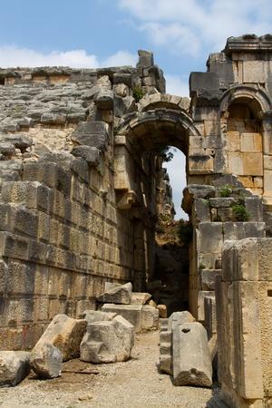 myra, rock tombs turkey