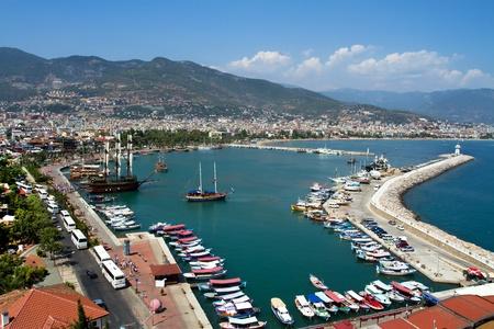 port of alanya - turkey Reklamní fotografie