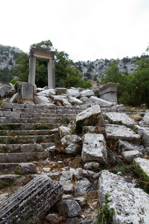 the mountain fortress termessos near alanya, gulluk dagi national park, was besieged by alexander the great in vain.