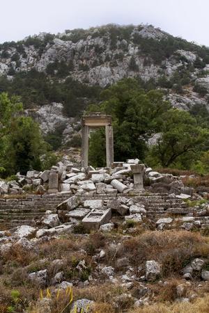 Ruins of theater in Termessos near Antalya