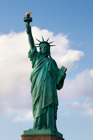 Statue of Liberty on Liberty Island in New York City photo