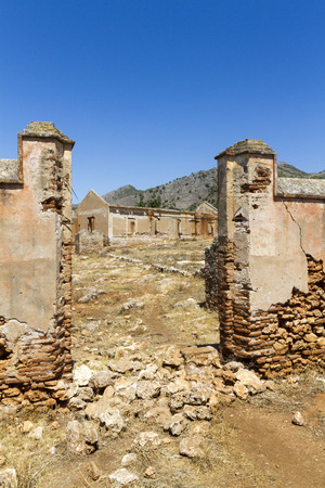 A ruined factory in Spain.