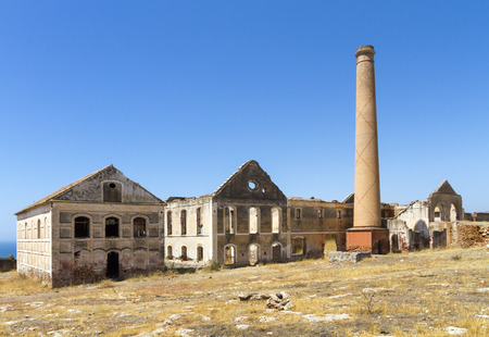 The ruins of a factory in Spain.