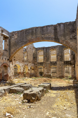 The ruins of an old factory in Spain.