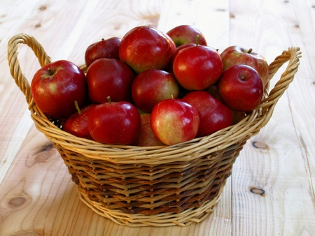 healthily: basket with red apples