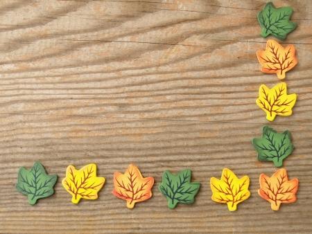autumnally: foliage on a board