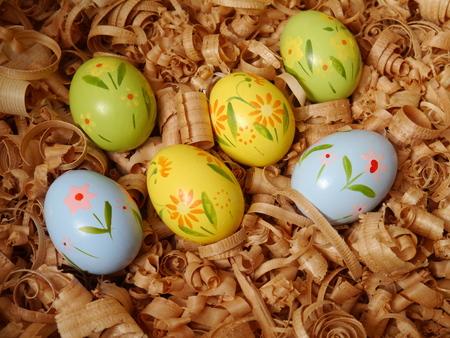 seasonable: colored Easter eggs