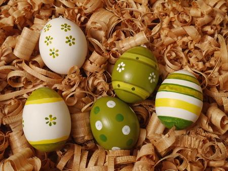 eastertide: colored Easter eggs