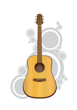 Vector illustration of an acoustic guitar.Easy to edit. Vector