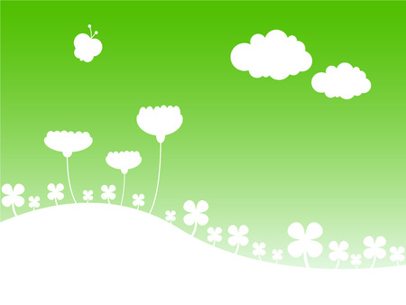 Stylized vector illustration of a spring landscape. Stock Vector - 5834223