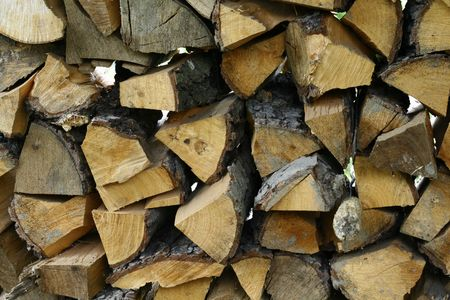 Firewood stacks to use as a background. photo