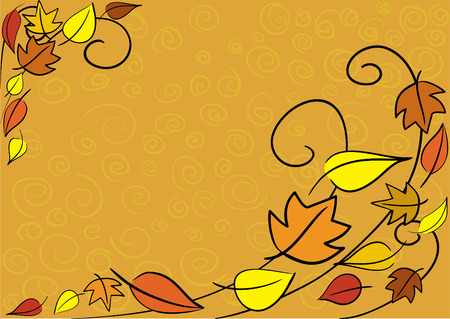 autumn leaves background. Easy to edit. Stock Vector - 5857530