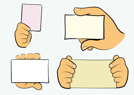 hands holding papers with copyspace.Easy to edit. Stock Vector - 5857495