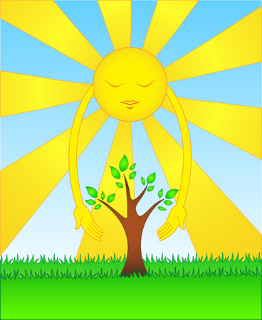 illustration of global warming concept.Easy to edit. Stock Vector - 5857491