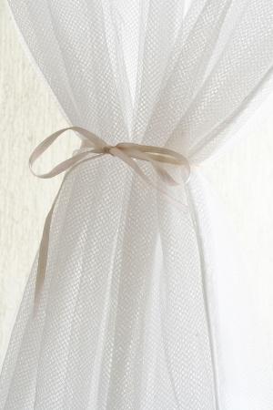 Beautiful white curtain photo