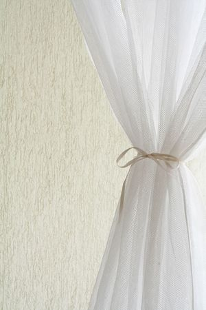 Beautiful white curtain photo